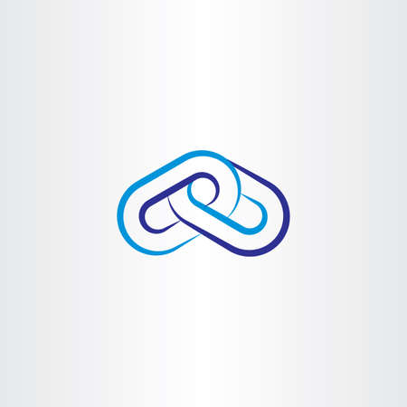 partnership security: blue chain line vector icon
