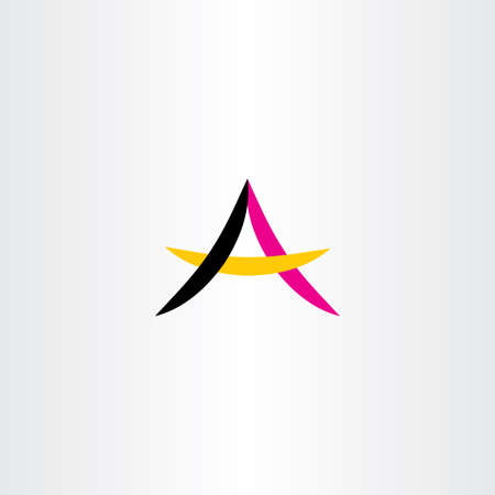 simple logo: letter a simple vector logo symbol abstract Illustration