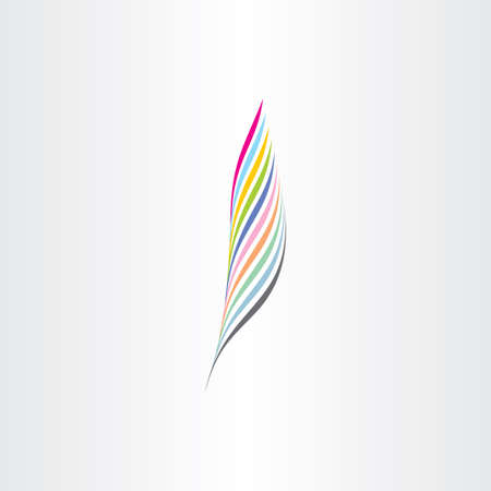 feather vector: colorful feather vector icon