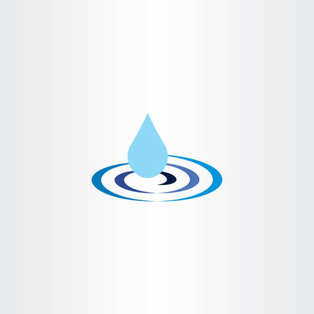 water ripple: water drop ripple vector icon illustration sign