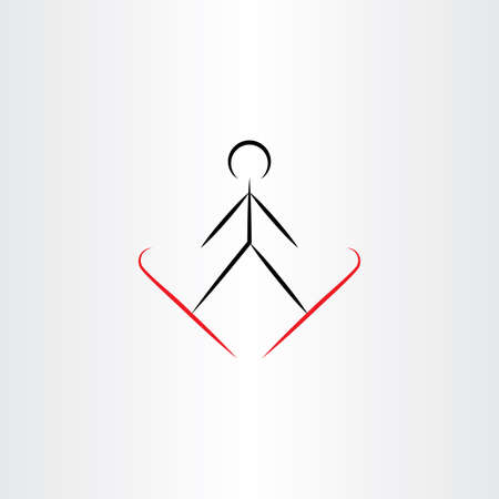 ski jump vector icon illustration design