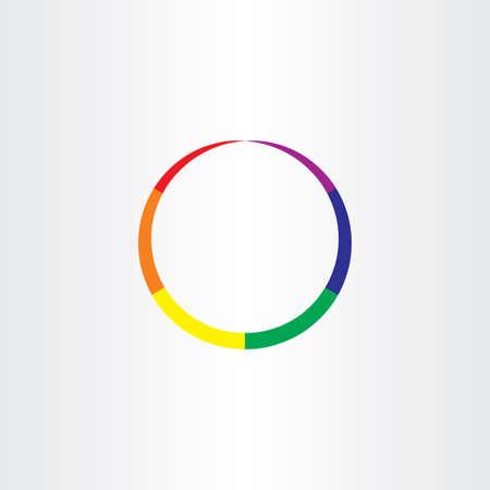 rainbow circle: rainbow circle abstract colorful icon Illustration