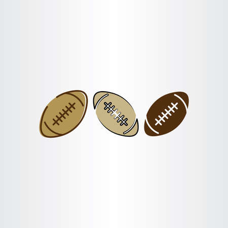 rugby ball: rugby ball football icon set