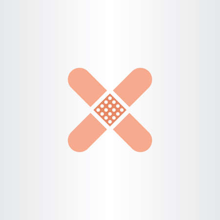 plaster patch medical icon Illustration