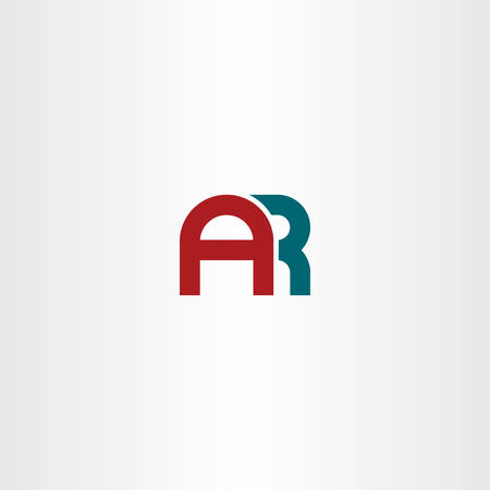 letter a and r combination ar logo vector