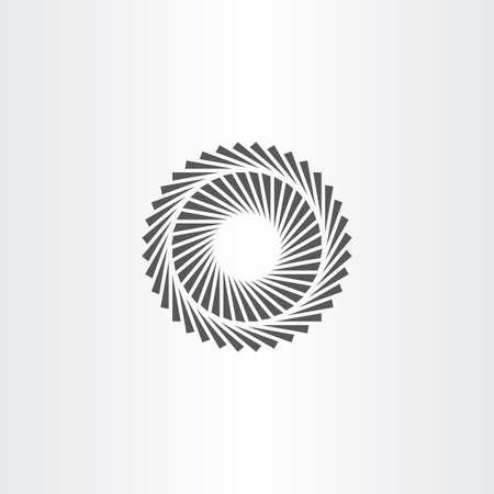 geometric optic illusion vector icon Illustration