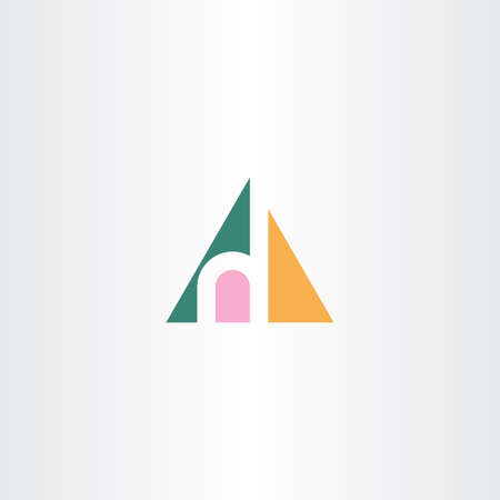 small letter h in triangle logo icon