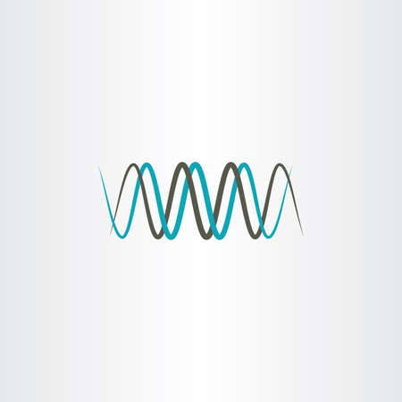 frequency wavelength logo vector Illustration