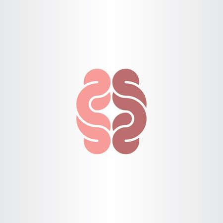 human gut icon vector symbol design