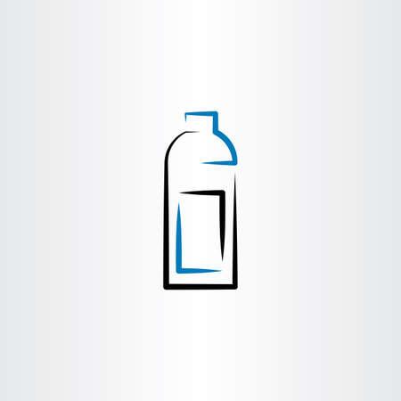 bottle icon symbol line vector design