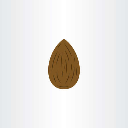 almond  icon symbol vector design element Ilustrace