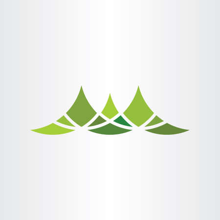 green mountain symbol vector design element