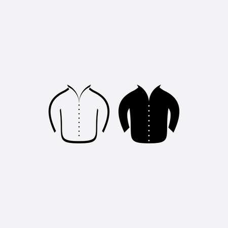 man jacket icon vector symbol design  イラスト・ベクター素材