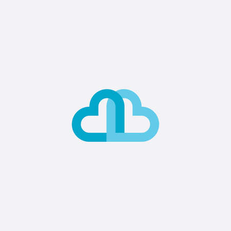 heart cloud icon symbol element Stock Vector - 116650261