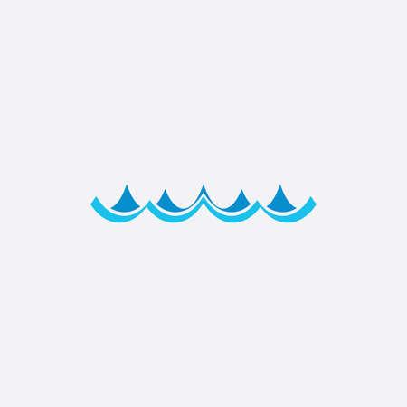 ocean water waves icon vector symbol design Ilustração