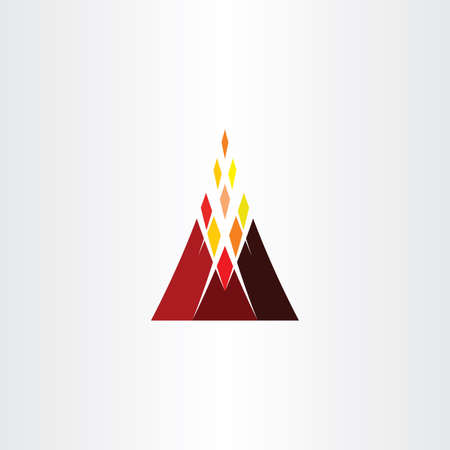 volcano mountain icon vector symbol