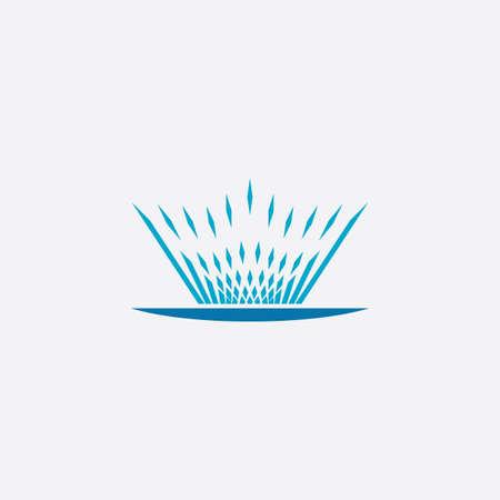 fountain icon vector illustration symbol design  イラスト・ベクター素材
