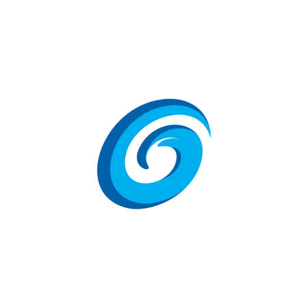 blue g letter water wave icon design