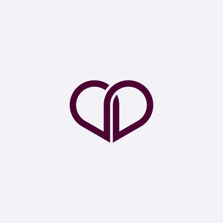 purple heart icon sign vector design