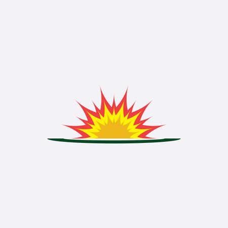 explosion icon fire symbol design element vector Vettoriali