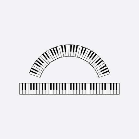 piano keyboard vector design element illustration