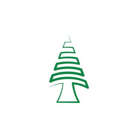 christmas fir tree icon vector design element Ilustração