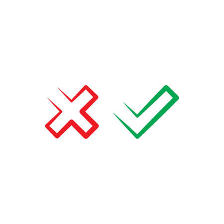 no and yes checkmark icon symbol element