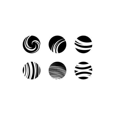 black globe icons sign vector design elements