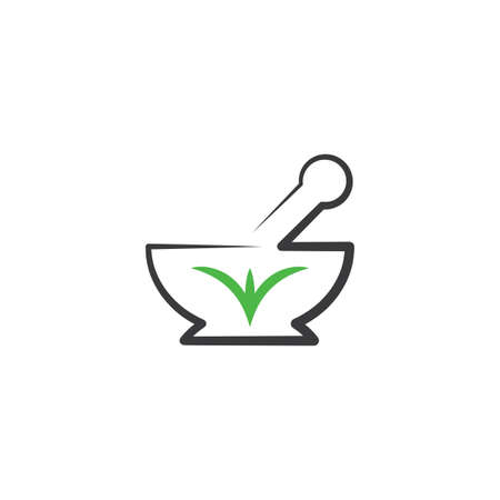 mortar and pestle icon pharmacy Illustration