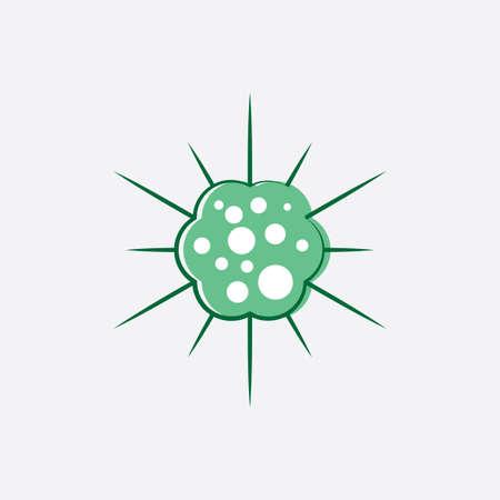 virus icon vector symbol design