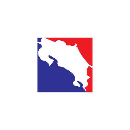 costa rica map vector icon symbol