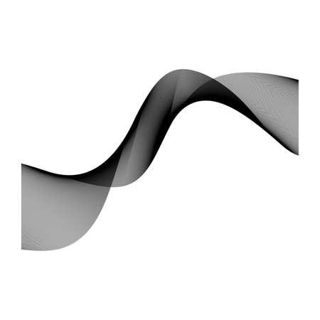 black vector smoke element background design