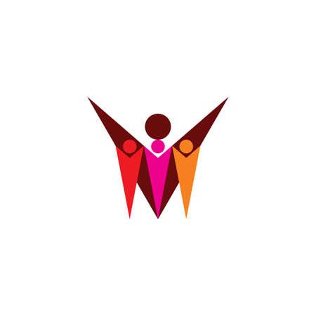 babysitter and children icon vector design