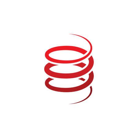 conception d'icône de ressort en acier en métal de bobine