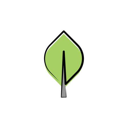 tree leaf vector sign design element Ilustracja