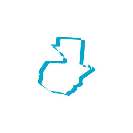 guatemala map icon vector sign design Vetores