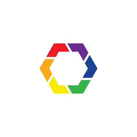 colorful hexagon icon vector design element Ilustração