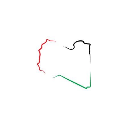libya map icon vector symbol