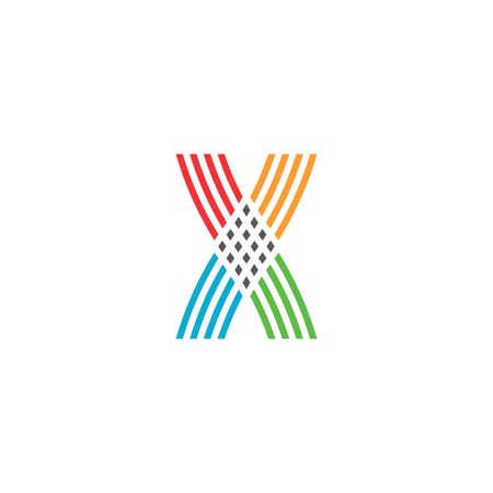 colorful x letter symbol design