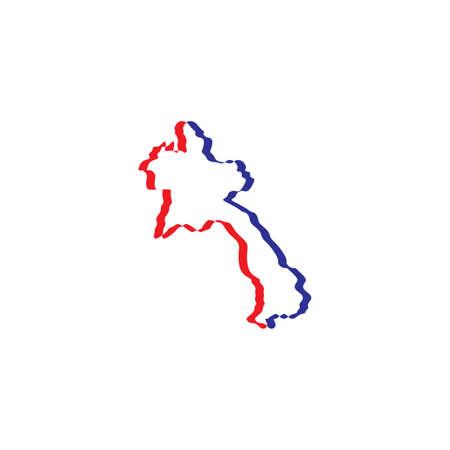 laos map icon vector symbol