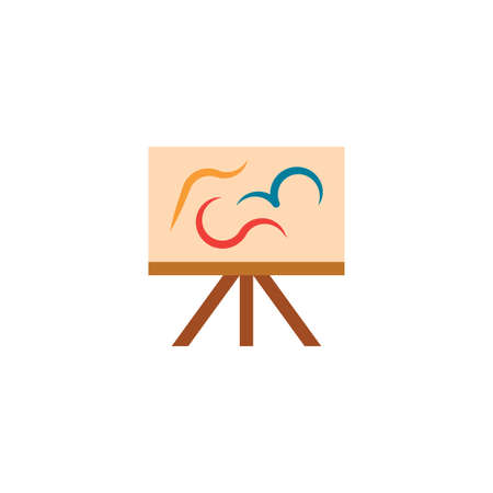 painting easel artist icon design