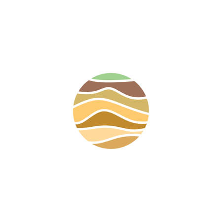 soil layers geology icon vector