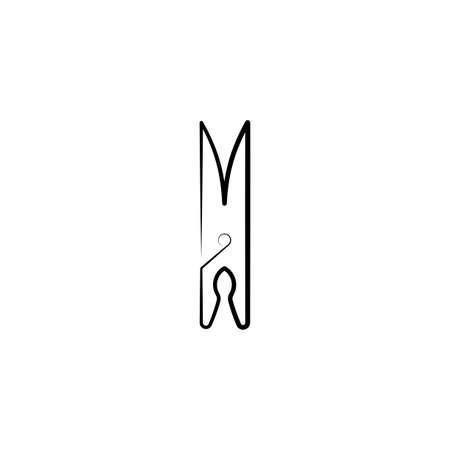 cloth clip vector icon illustration design element