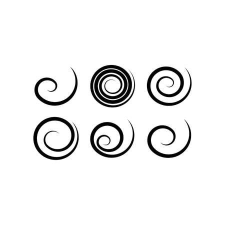 geometric spirals vector set design Vektorové ilustrace