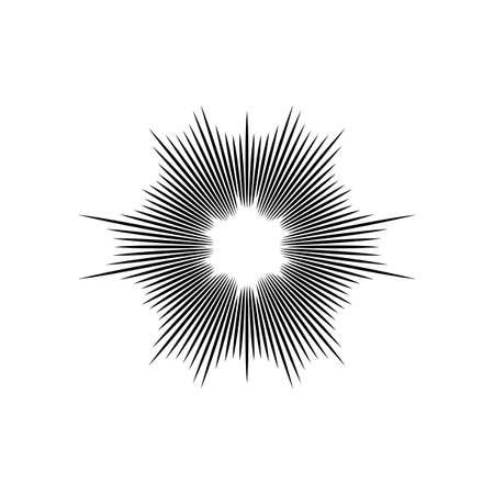 explosion vector illustration abstract background design Ilustração