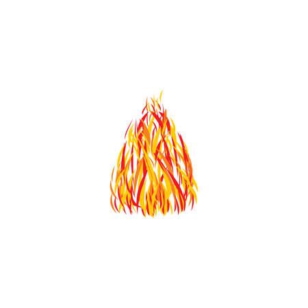 stylized fire vector design illustration  イラスト・ベクター素材