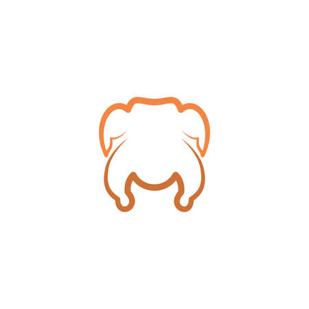raw chicken meat vector icon symbol sign