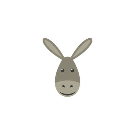 funny donkey face vector clipart illustration  イラスト・ベクター素材