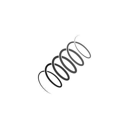 metal spring coil icon vector symbol