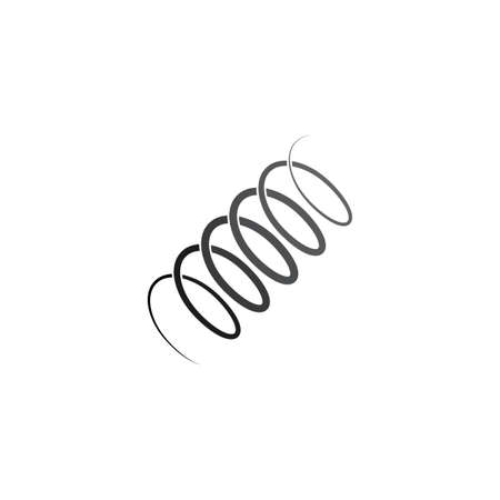 metal spring coil icon vector symbol Illustration